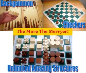 chess checker and backgammon set